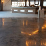 Concrete Floor Partially Polished