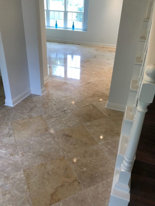 Travertine Floor Polishing