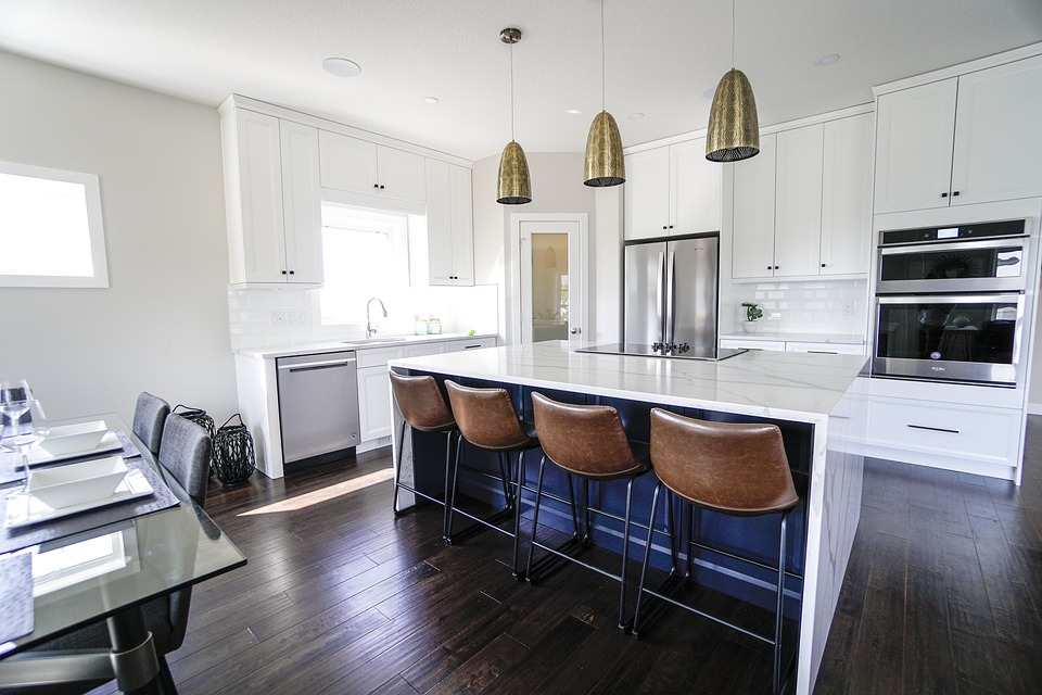 kitchen wood tiles