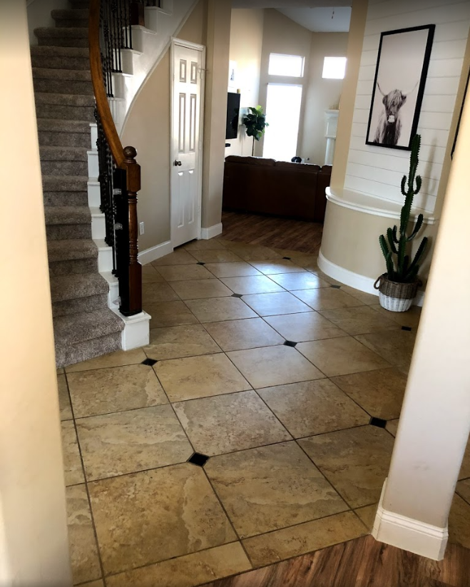 before tile removal project