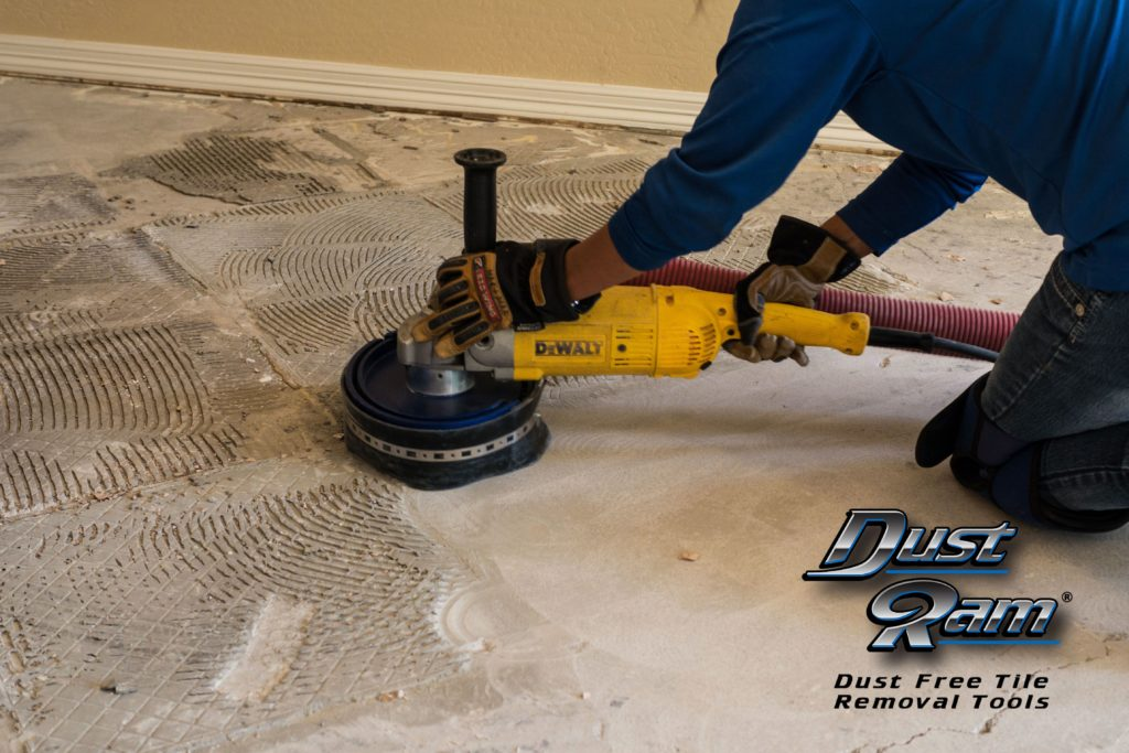 contractors removing tile dust free